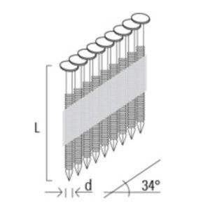 Klince nastrelovacie D34 3,1 x 90 mm KMR + 2 ks plynové náplne 80 ml