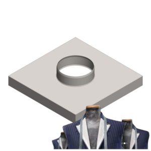Komínová krycia doska s kruhovým prieduchom - Výroba na mieru