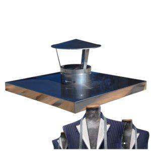 Montážna zostava komínová krycia doska s komínovou čiapkou - Výroba na mieru