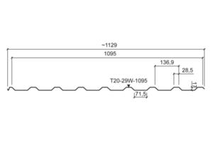 Trapézový strešný profil T20